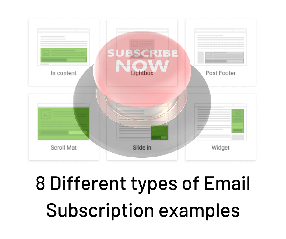 8 email subscribe examples